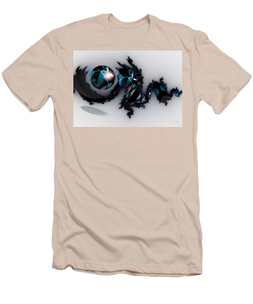 China Dragon Rythm Float Dance Men's T-Shirt (Athletic Fit) featuring the digital art China Dragon by Veronica Jackson