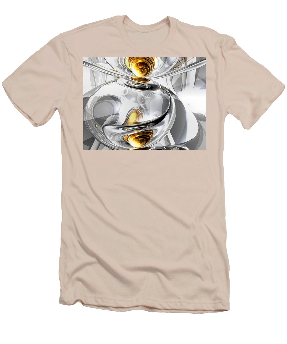 3d Men's T-Shirt (Athletic Fit) featuring the digital art Circumvoluted Abstract by Alexander Butler