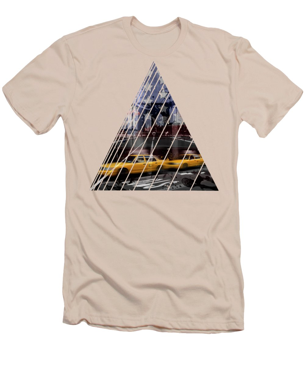 Abstract Men's T-Shirt (Athletic Fit) featuring the photograph City-art Nyc Composing by Melanie Viola