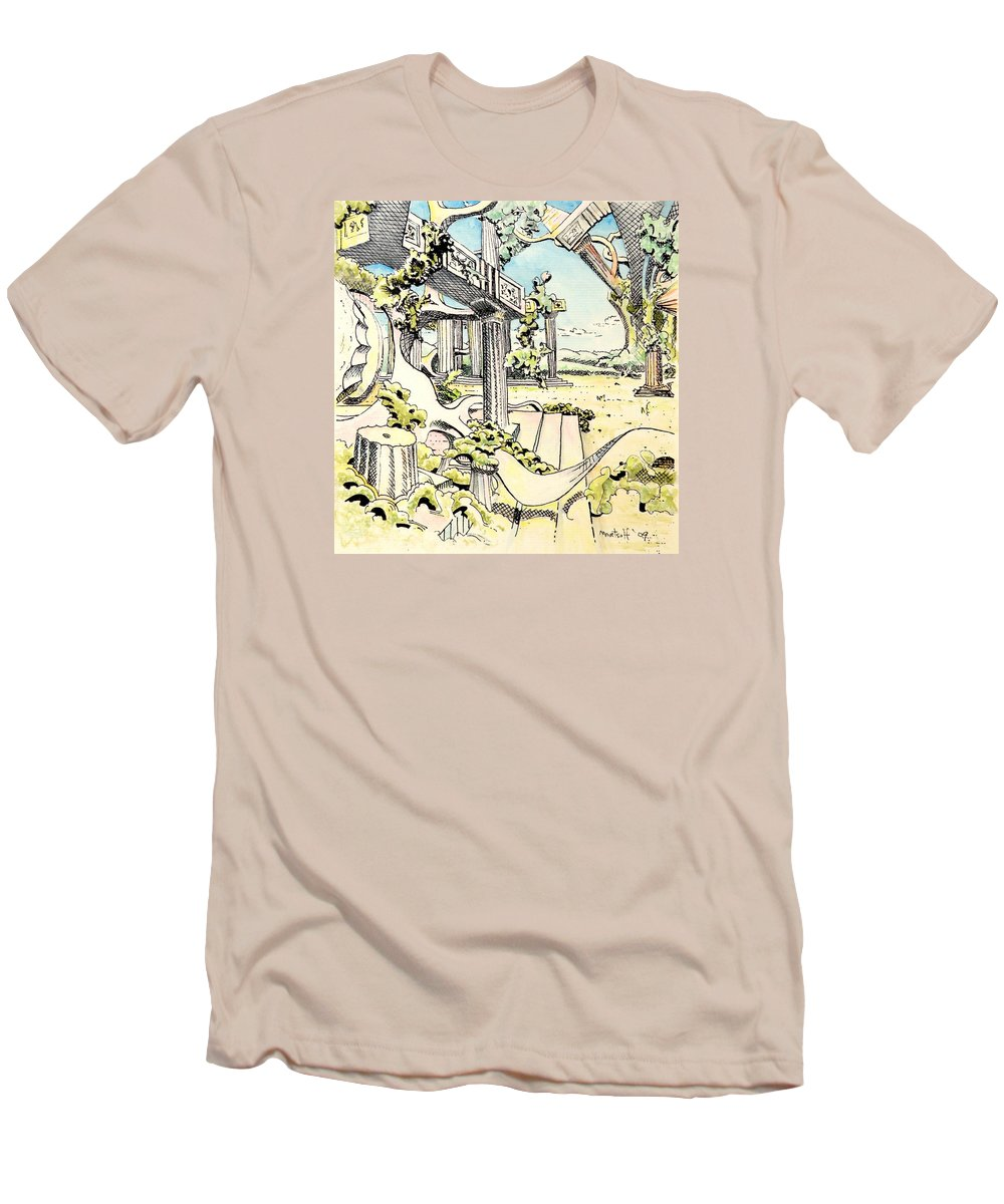 Greek Men's T-Shirt (Athletic Fit) featuring the painting Classical Visitation by Dave Martsolf