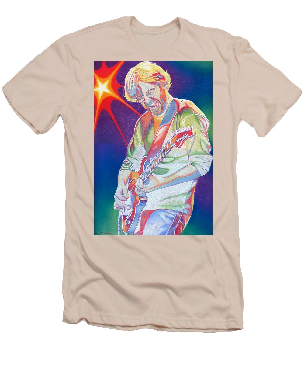 Phish Men's T-Shirt (Athletic Fit) featuring the drawing Colorful Trey Anastasio by Joshua Morton