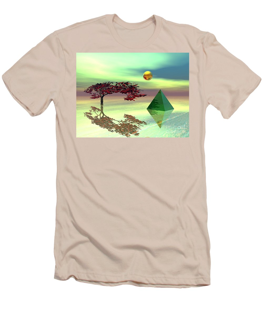 Fantasy Men's T-Shirt (Athletic Fit) featuring the digital art Contemplative by Oscar Basurto Carbonell