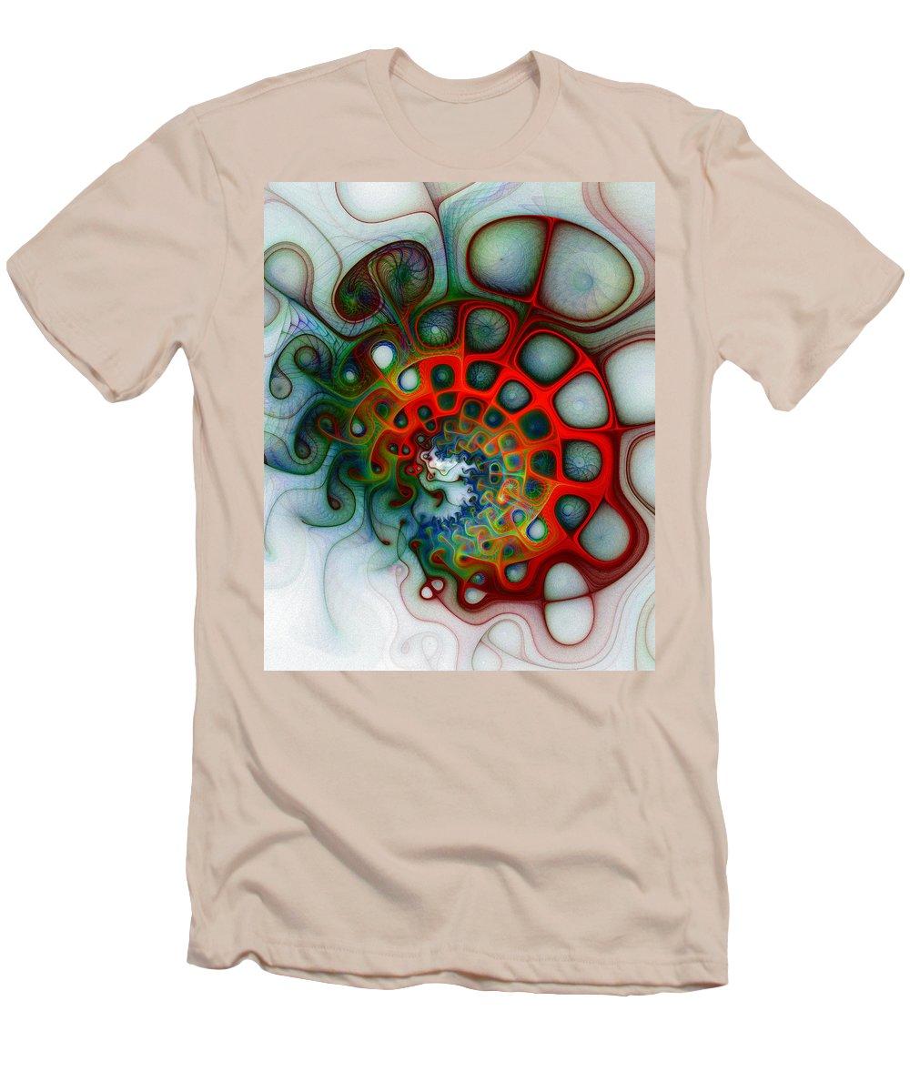 Digital Art Men's T-Shirt (Athletic Fit) featuring the digital art Convolutions by Amanda Moore