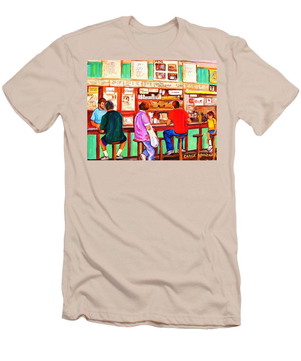 Montreal Men's T-Shirt (Athletic Fit) featuring the painting Counter Culture by Carole Spandau