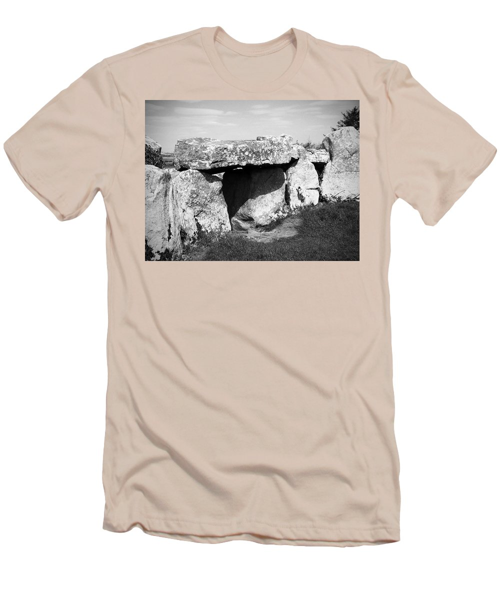 Ireland Men's T-Shirt (Athletic Fit) featuring the photograph Creevykeel Court Cairn County Sligo Ireland by Teresa Mucha