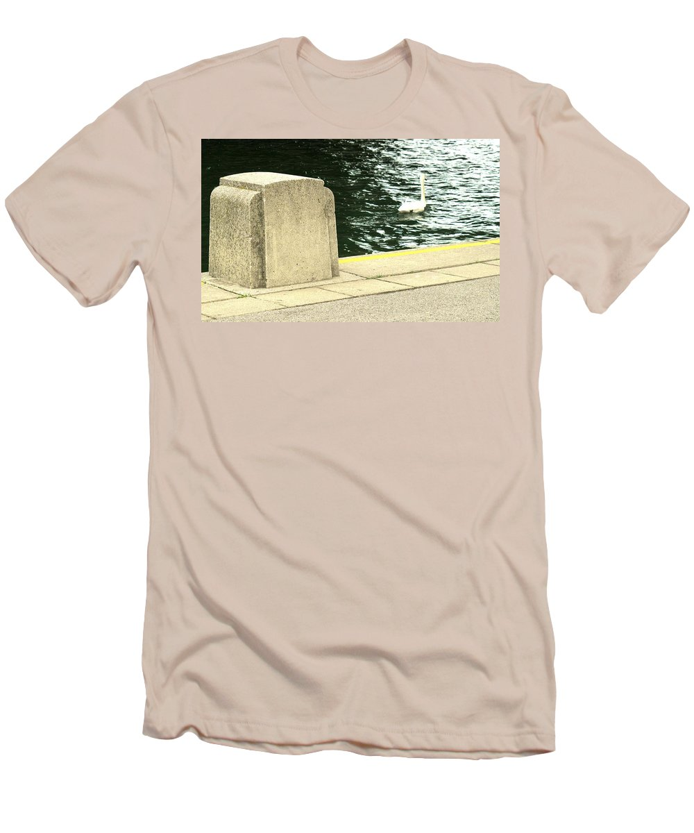 Swan Men's T-Shirt (Athletic Fit) featuring the photograph Danube River Swan by Ian MacDonald