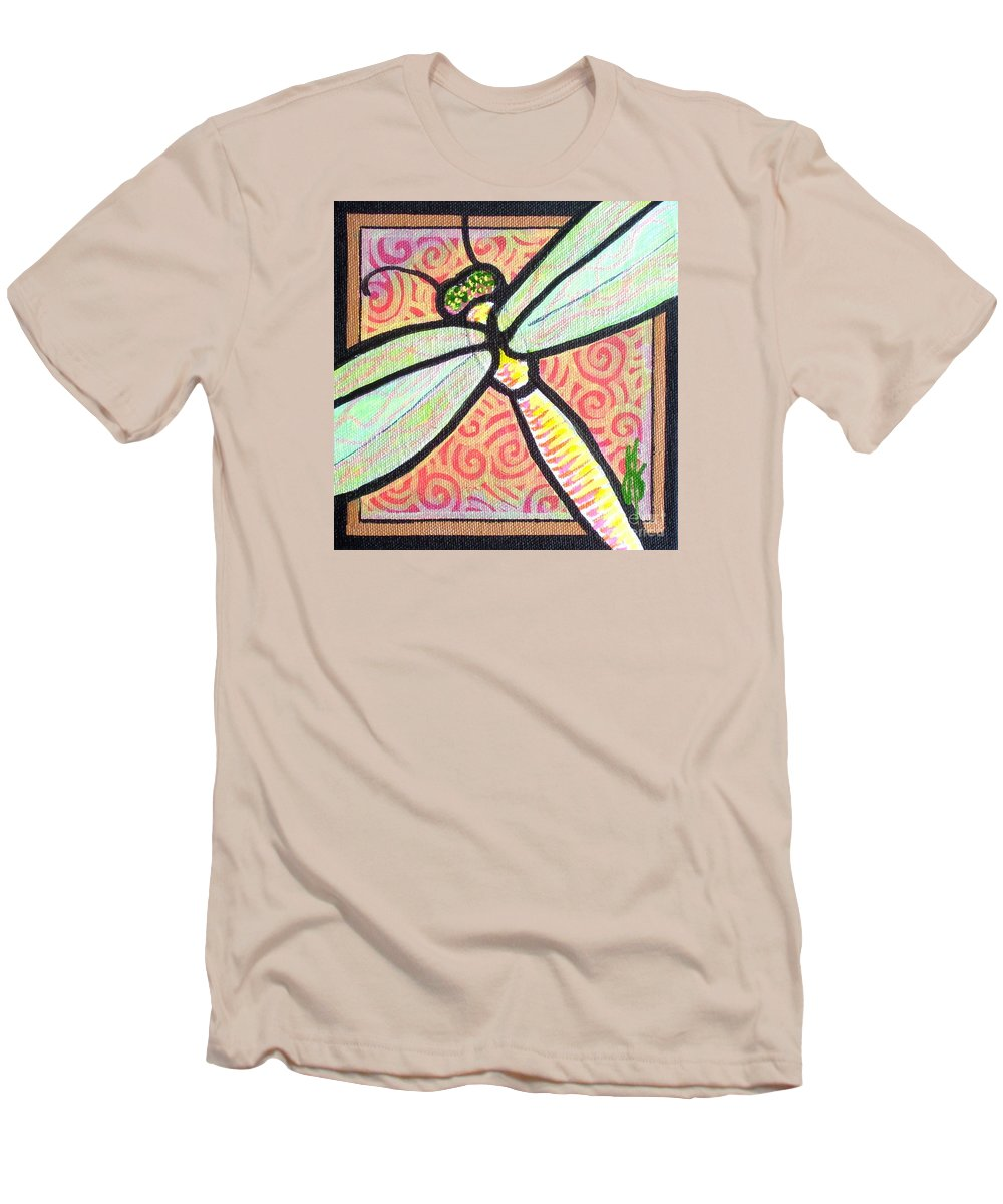 Dragonfly Men's T-Shirt (Athletic Fit) featuring the painting Dragonfly Fantasy 3 by Jim Harris