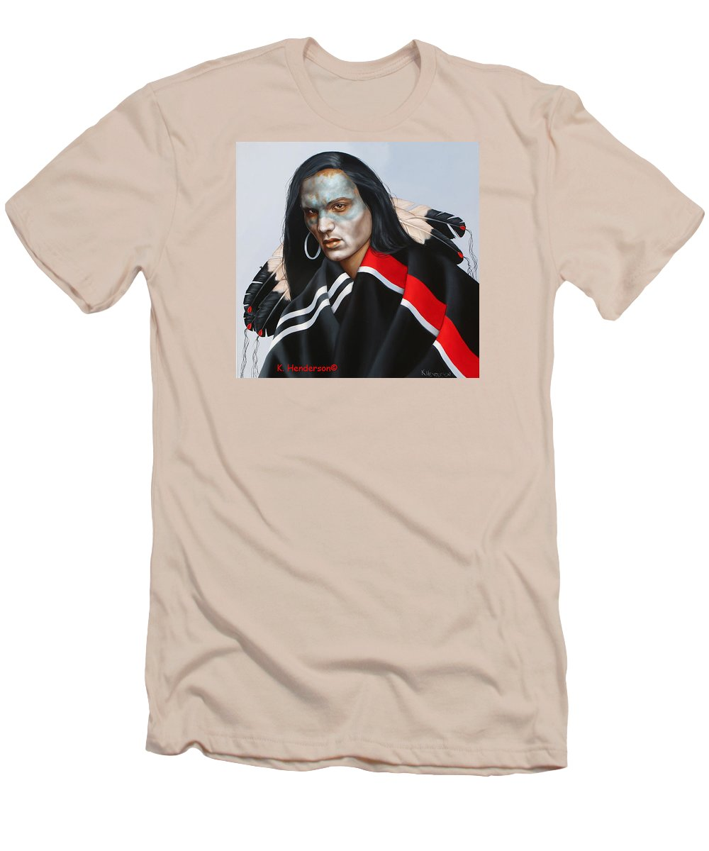 American Indian Men's T-Shirt (Athletic Fit) featuring the painting Dream Within A Dream by K Henderson