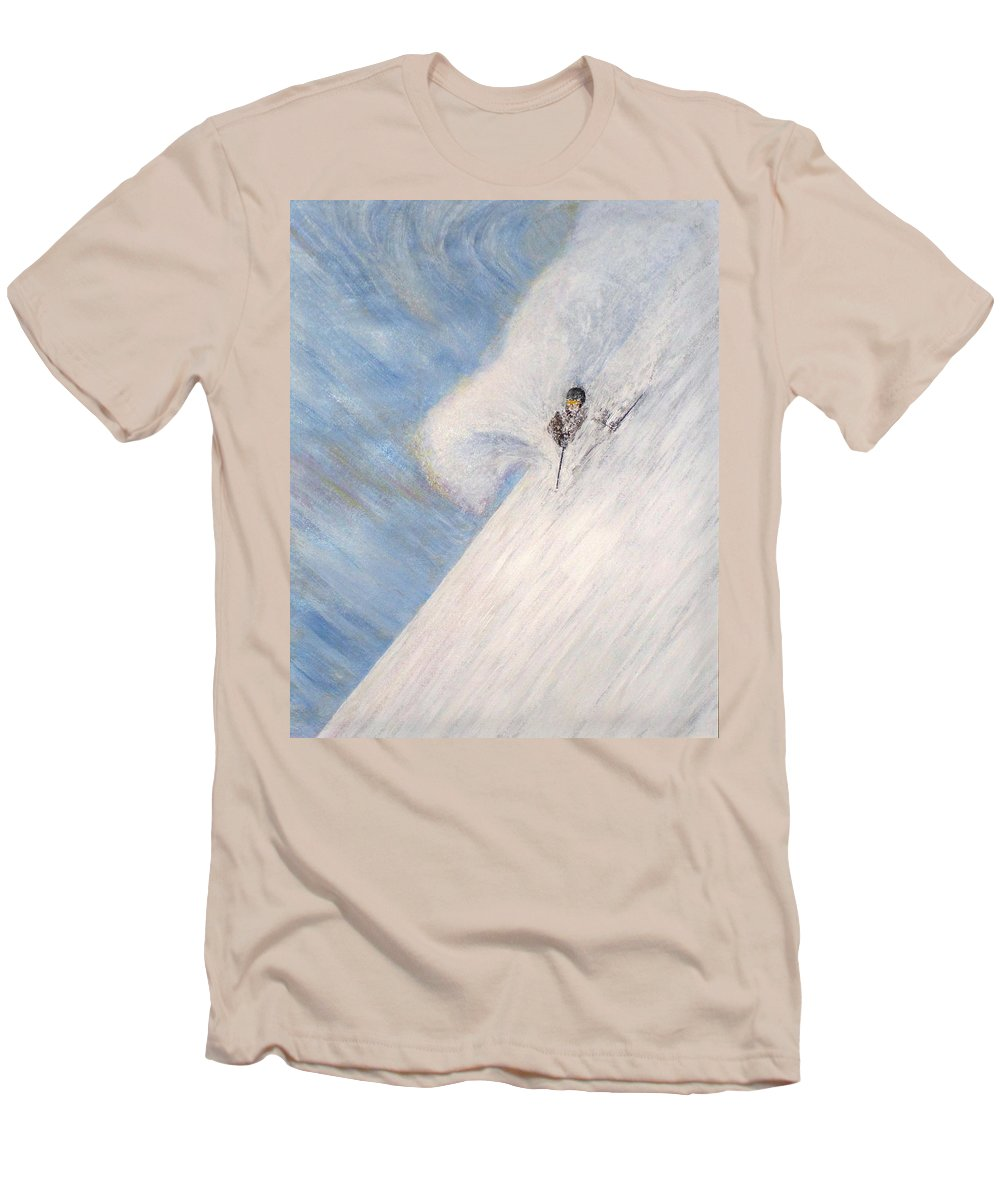Landscape Men's T-Shirt (Athletic Fit) featuring the painting Dreamsareal by Michael Cuozzo