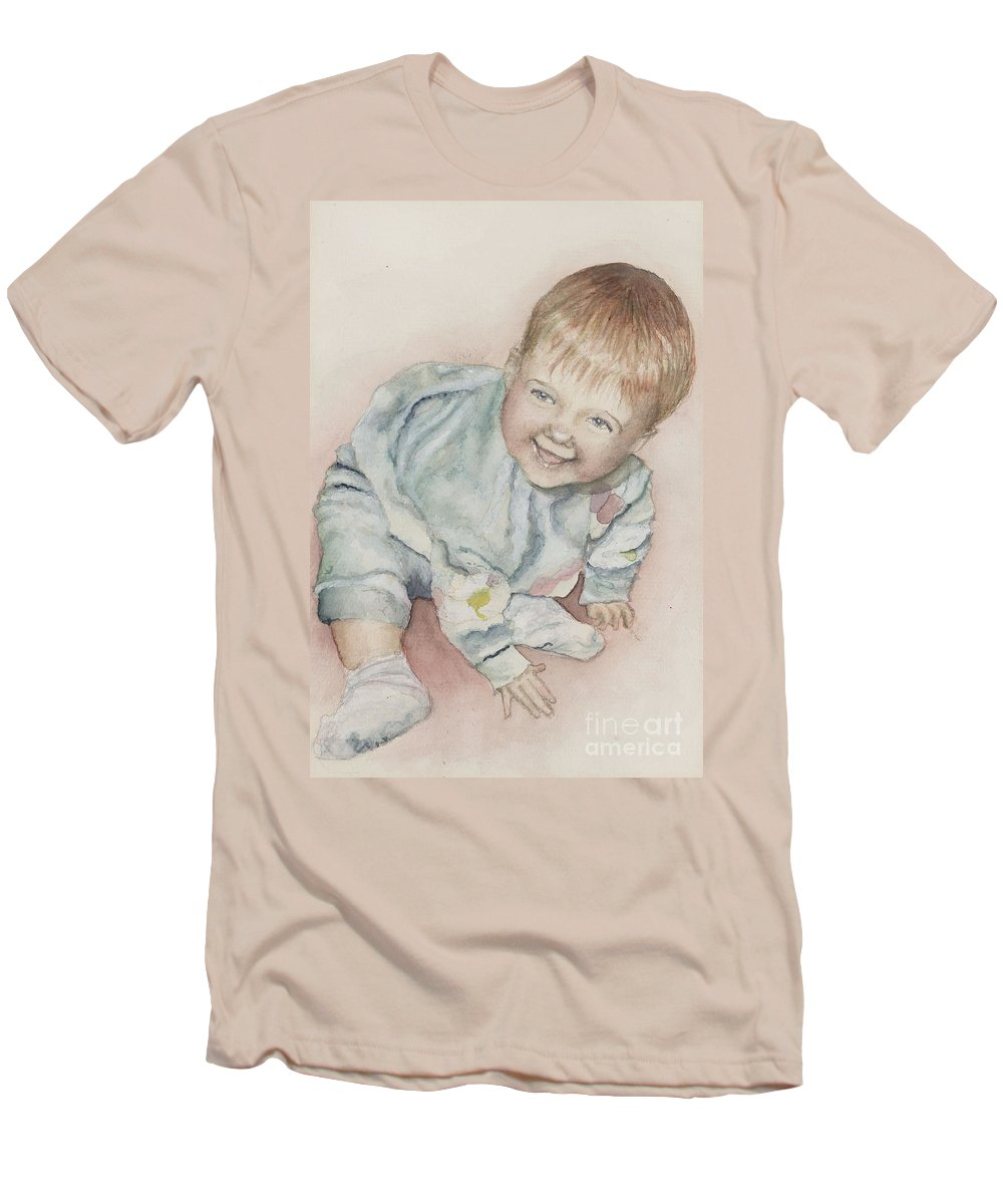 Girl Men's T-Shirt (Athletic Fit) featuring the painting Elise by Nadine Rippelmeyer