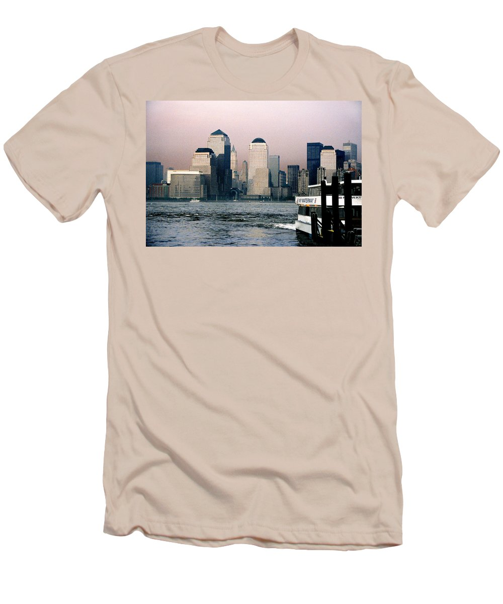 New York Men's T-Shirt (Athletic Fit) featuring the photograph Empty Sky by Steve Karol