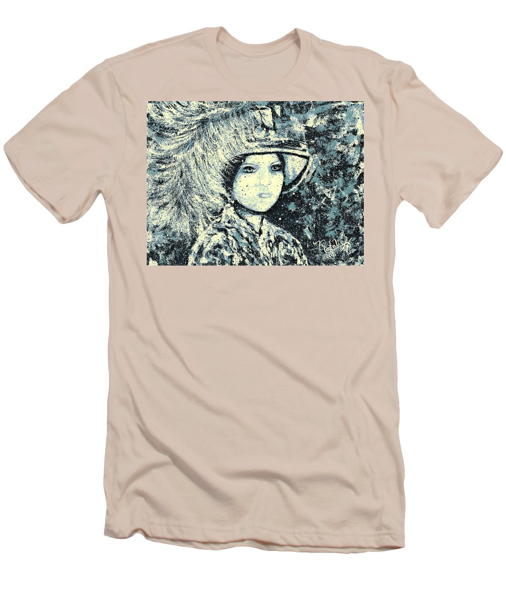 Woman Men's T-Shirt (Athletic Fit) featuring the painting Evalina by Natalie Holland