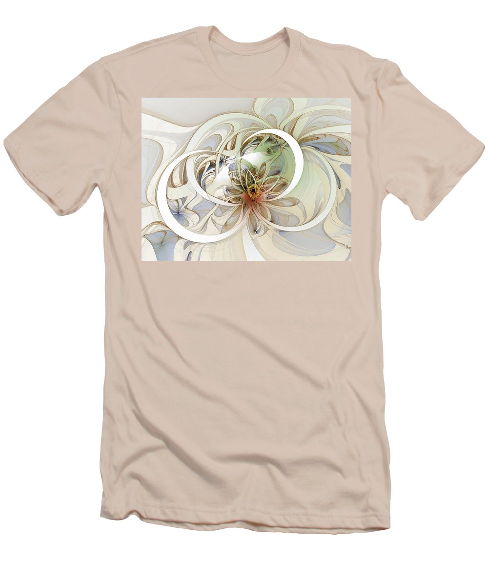 Digital Art Men's T-Shirt (Athletic Fit) featuring the digital art Floral Swirls by Amanda Moore