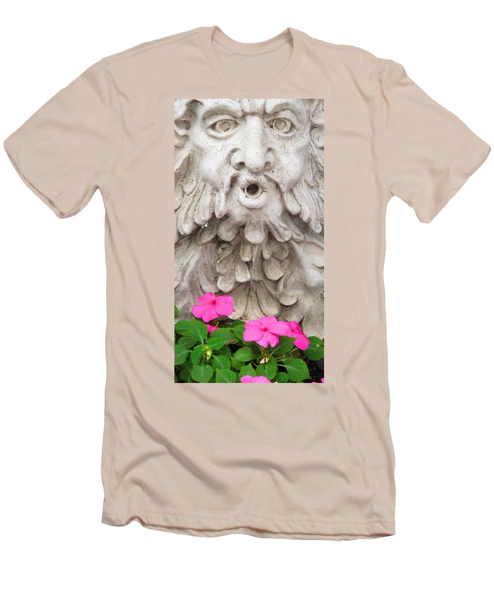 Statue Men's T-Shirt (Athletic Fit) featuring the photograph Flower Blower by Ian MacDonald