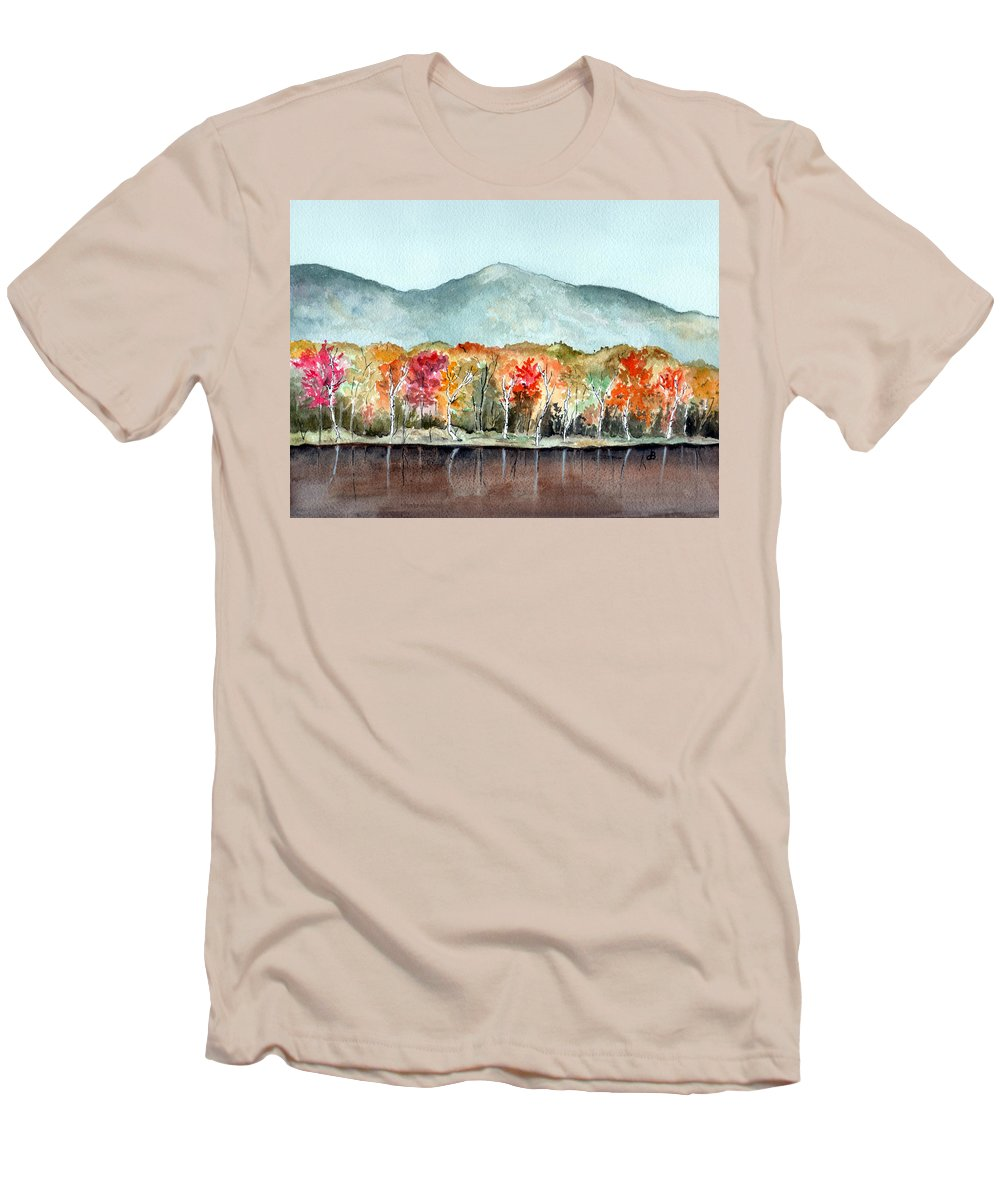 Watercolor Men's T-Shirt (Athletic Fit) featuring the painting Foliage by Brenda Owen