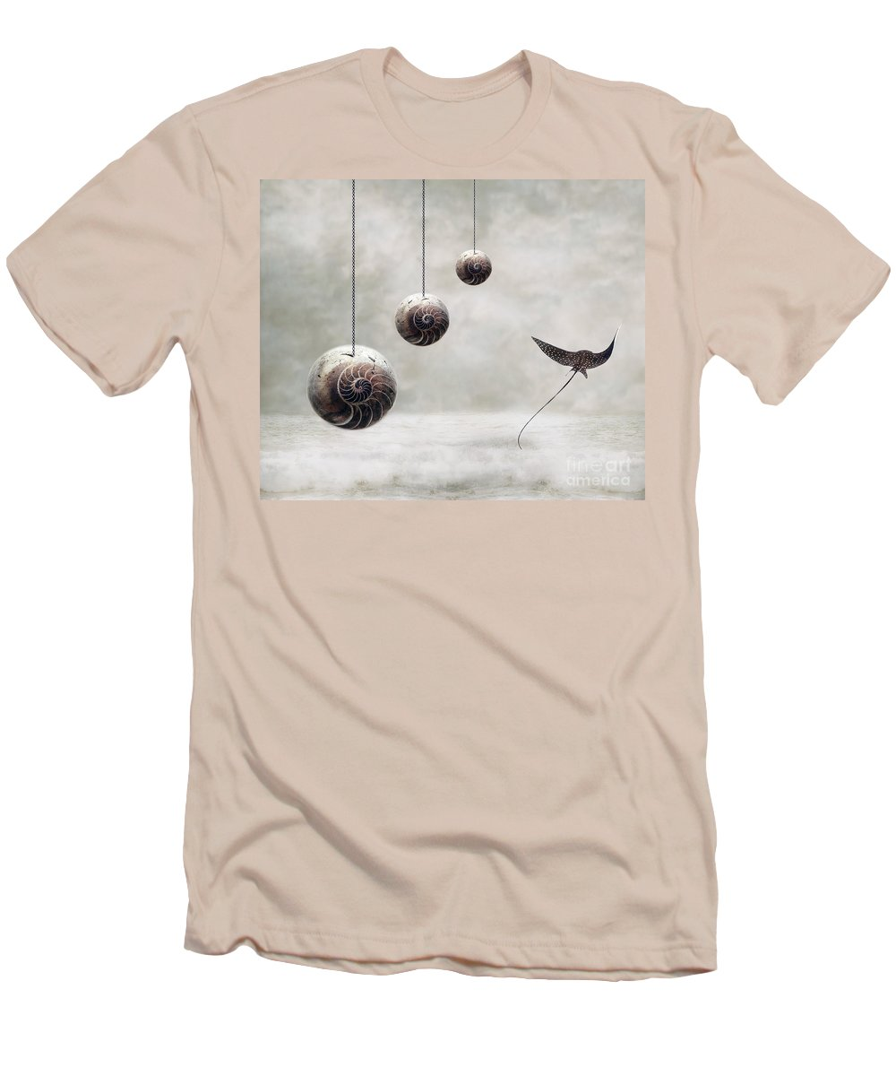 Surrealism Men's T-Shirt (Athletic Fit) featuring the photograph Free by Jacky Gerritsen