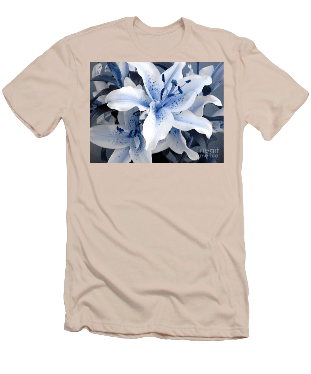 Blue Men's T-Shirt (Athletic Fit) featuring the photograph Freeze by Shelley Jones