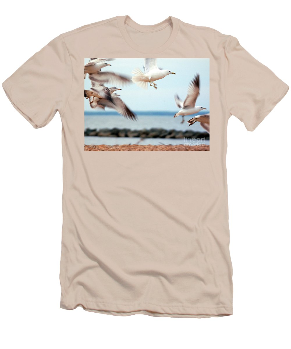 Clay Men's T-Shirt (Athletic Fit) featuring the photograph Frenzy by Clayton Bruster