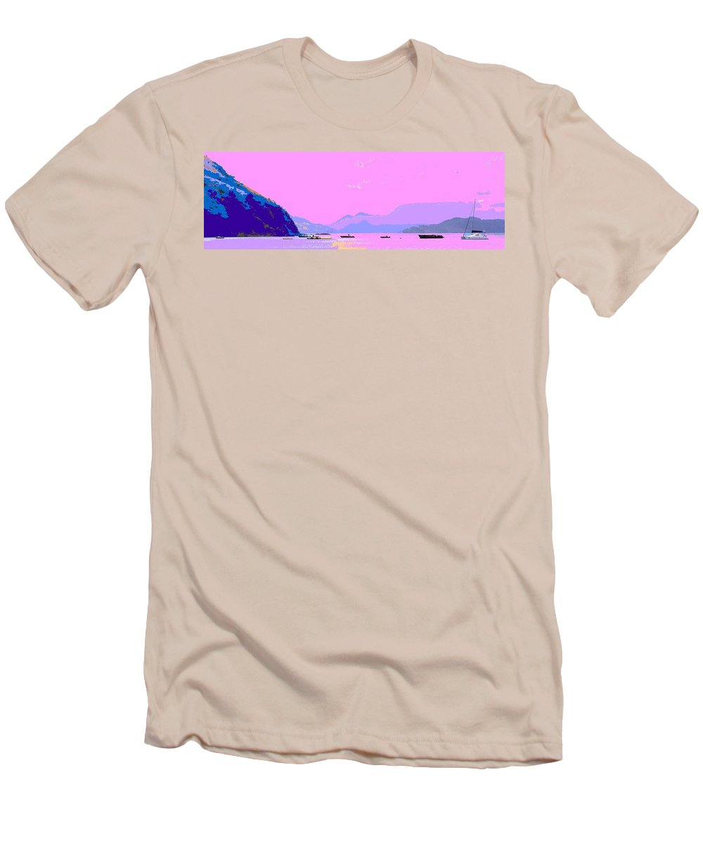 Frigate Men's T-Shirt (Athletic Fit) featuring the photograph Frigate Bay Morning by Ian MacDonald