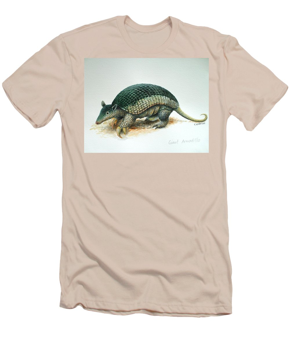 Giant Armadillo Men's T-Shirt (Athletic Fit) featuring the painting Giant Armadillo by Christopher Cox
