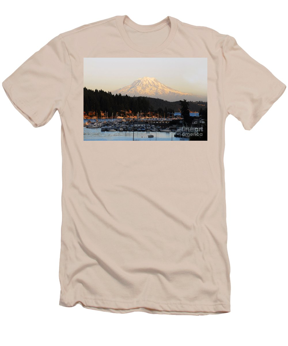 Gig Harbor Washington Men's T-Shirt (Athletic Fit) featuring the photograph Gig Harbor by David Lee Thompson