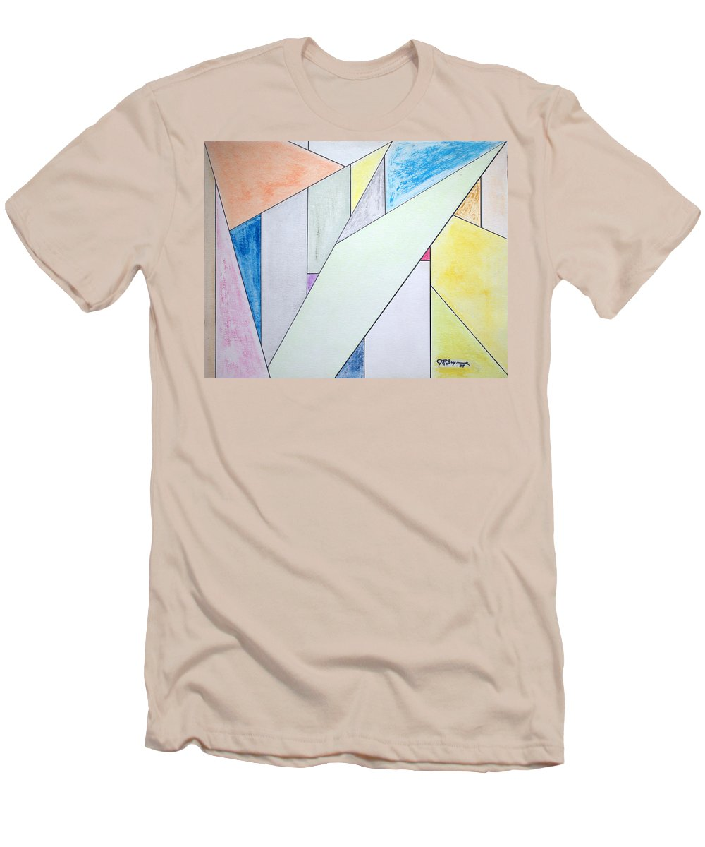 Buildings Men's T-Shirt (Athletic Fit) featuring the mixed media Glass-scrapers by J R Seymour