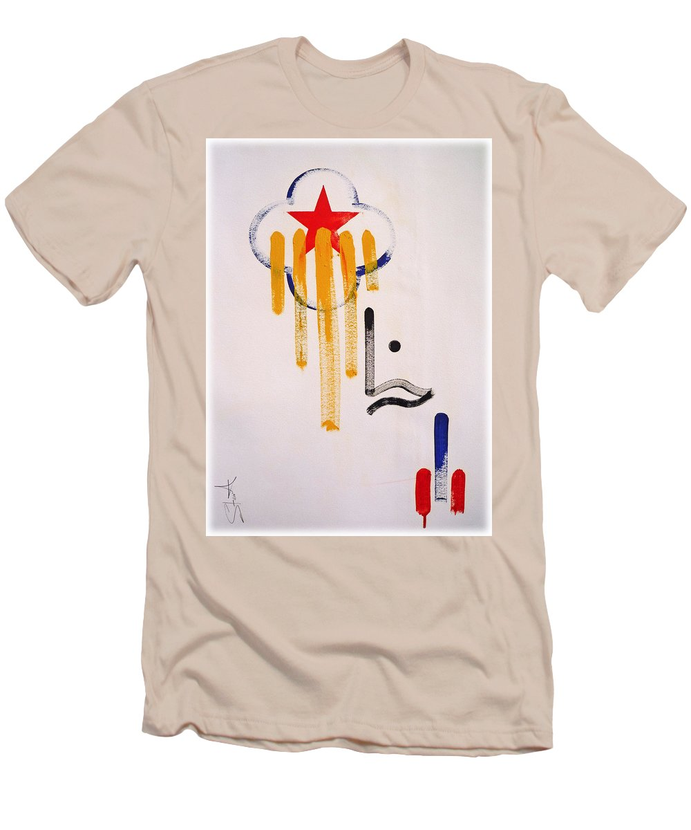 Drawing Men's T-Shirt (Athletic Fit) featuring the painting Great American Image by Charles Stuart
