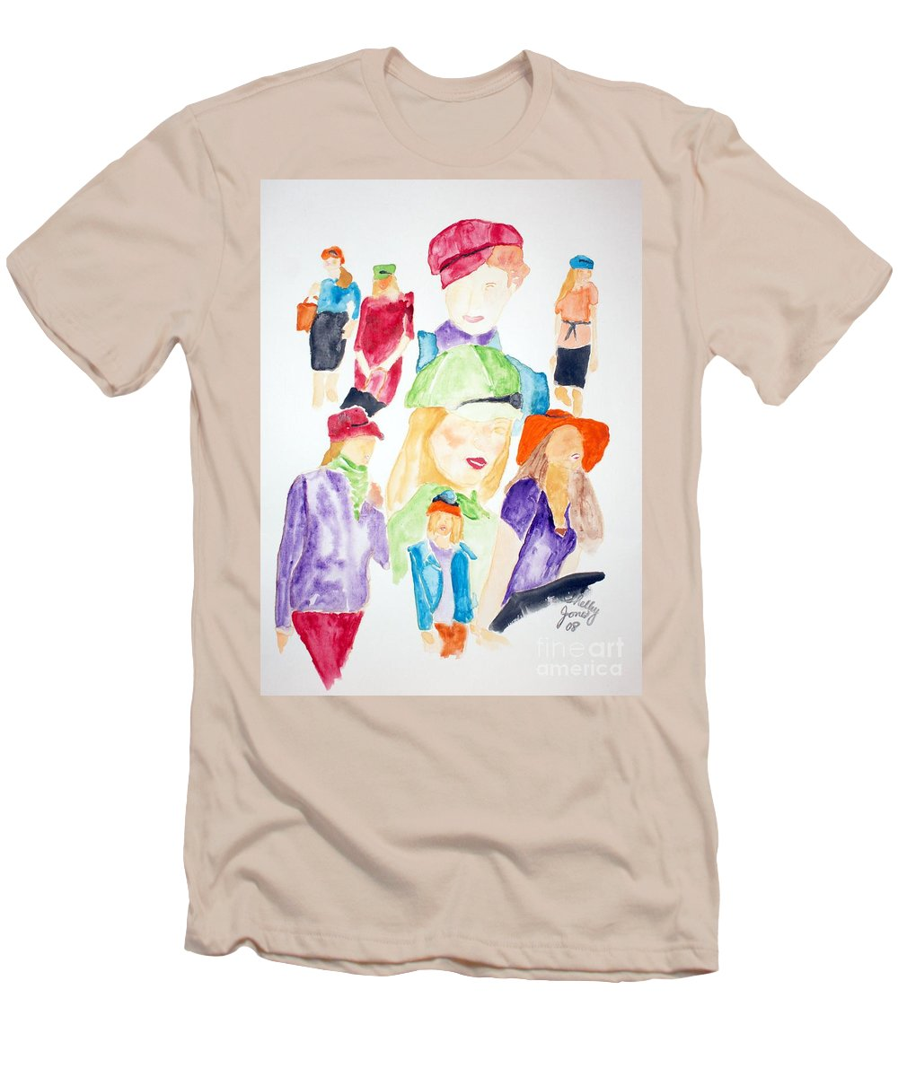 Hats Men's T-Shirt (Athletic Fit) featuring the painting Hats by Shelley Jones
