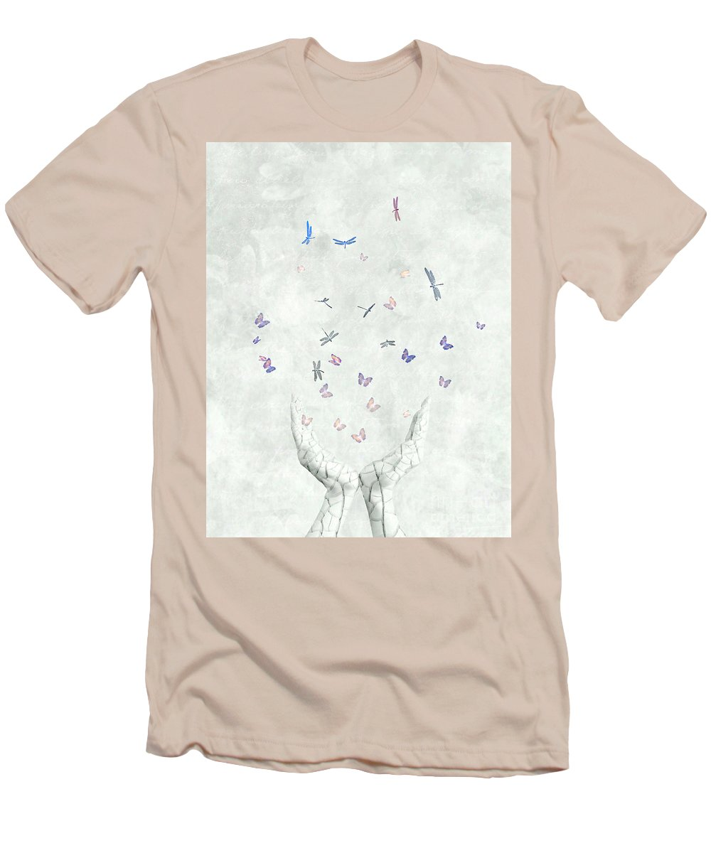Surreal Men's T-Shirt (Athletic Fit) featuring the digital art Heal by Jacky Gerritsen