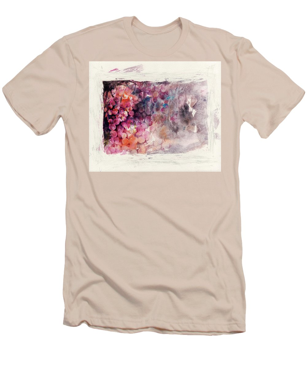 Grapes Men's T-Shirt (Athletic Fit) featuring the painting Hidden Beauty by Rachel Christine Nowicki