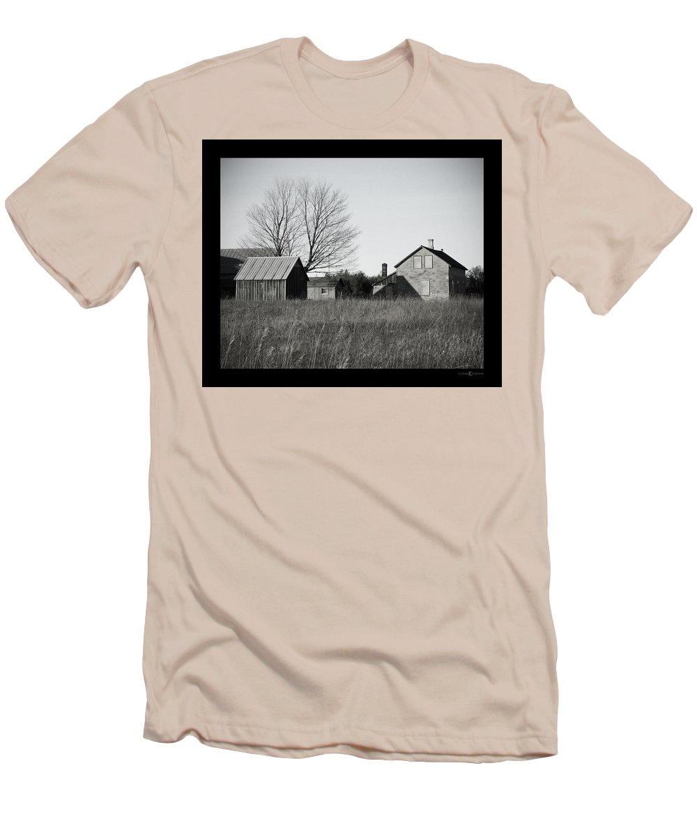 Deserted Men's T-Shirt (Athletic Fit) featuring the photograph Homestead by Tim Nyberg
