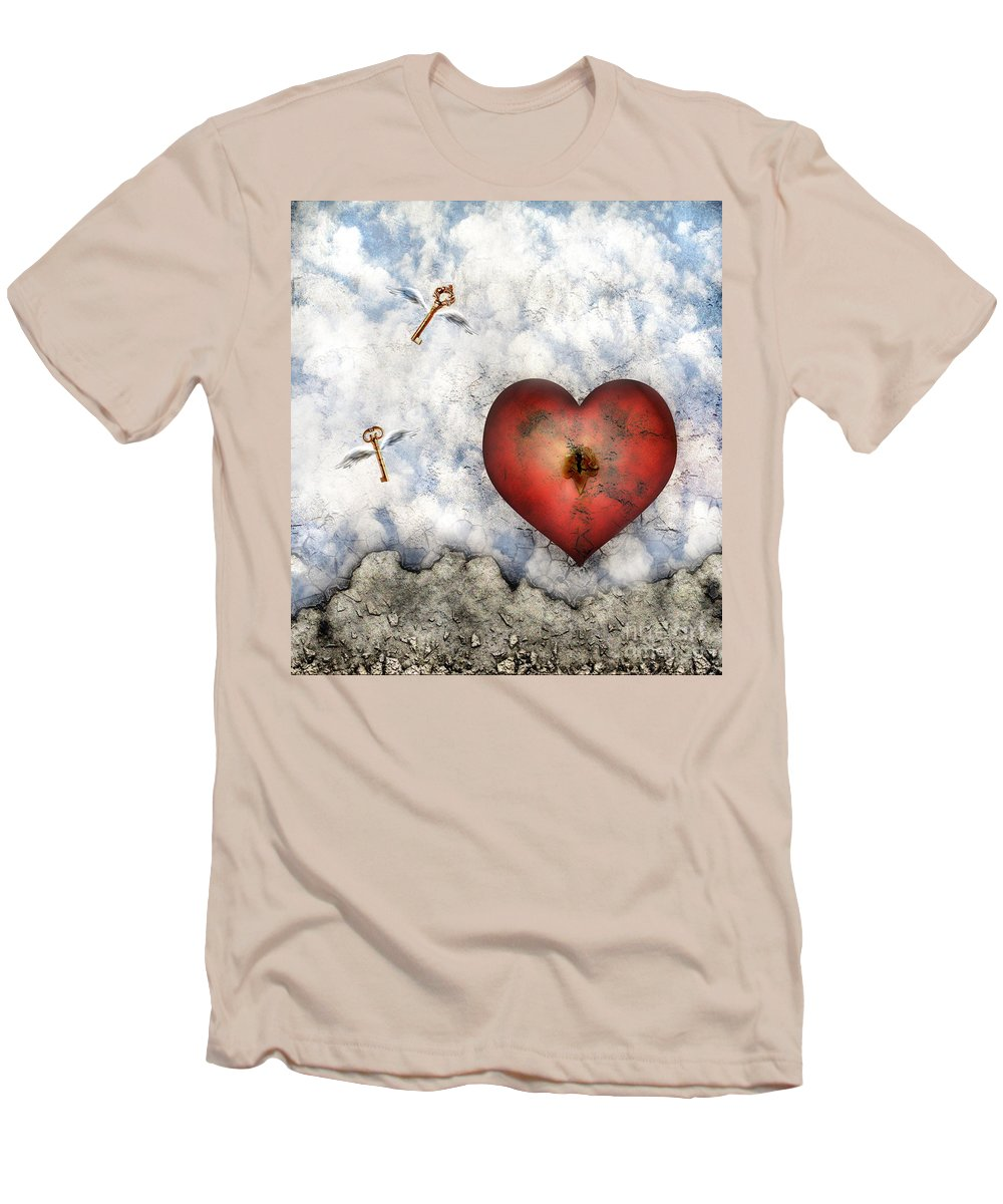 Heart Men's T-Shirt (Athletic Fit) featuring the digital art Hope Floats by Jacky Gerritsen
