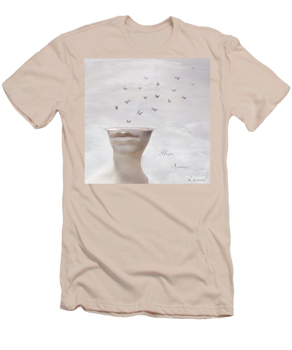 Surreal Men's T-Shirt (Athletic Fit) featuring the digital art Hope Springs Eternal by Jacky Gerritsen
