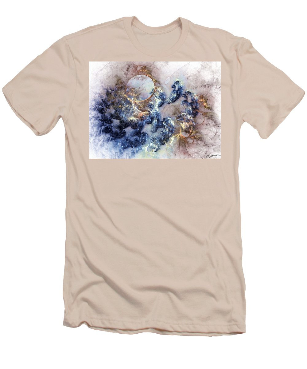 Abstract Men's T-Shirt (Athletic Fit) featuring the digital art Ion Storm by Casey Kotas