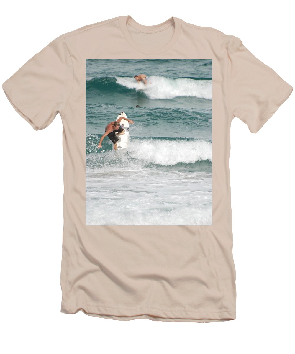 Ocean Men's T-Shirt (Athletic Fit) featuring the photograph Jeff Spicolli by Rob Hans