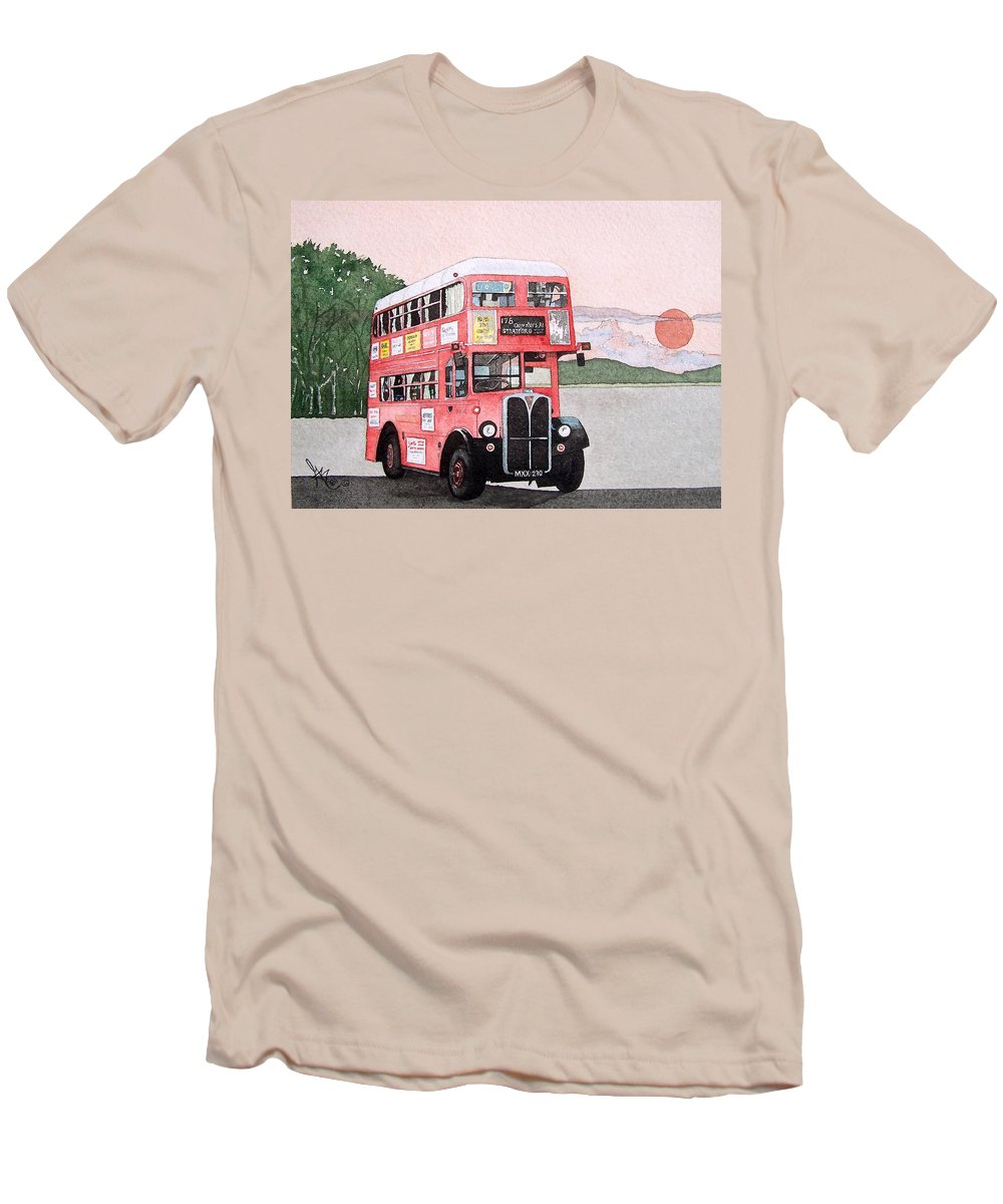 Bus Men's T-Shirt (Athletic Fit) featuring the painting Kirkland Bus by Gale Cochran-Smith