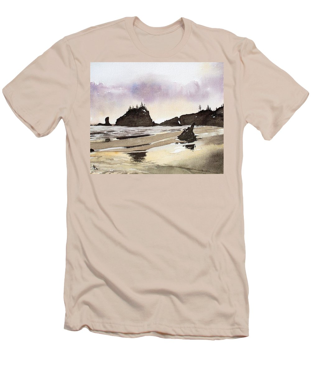 Washington Men's T-Shirt (Athletic Fit) featuring the painting Lapush by Gale Cochran-Smith