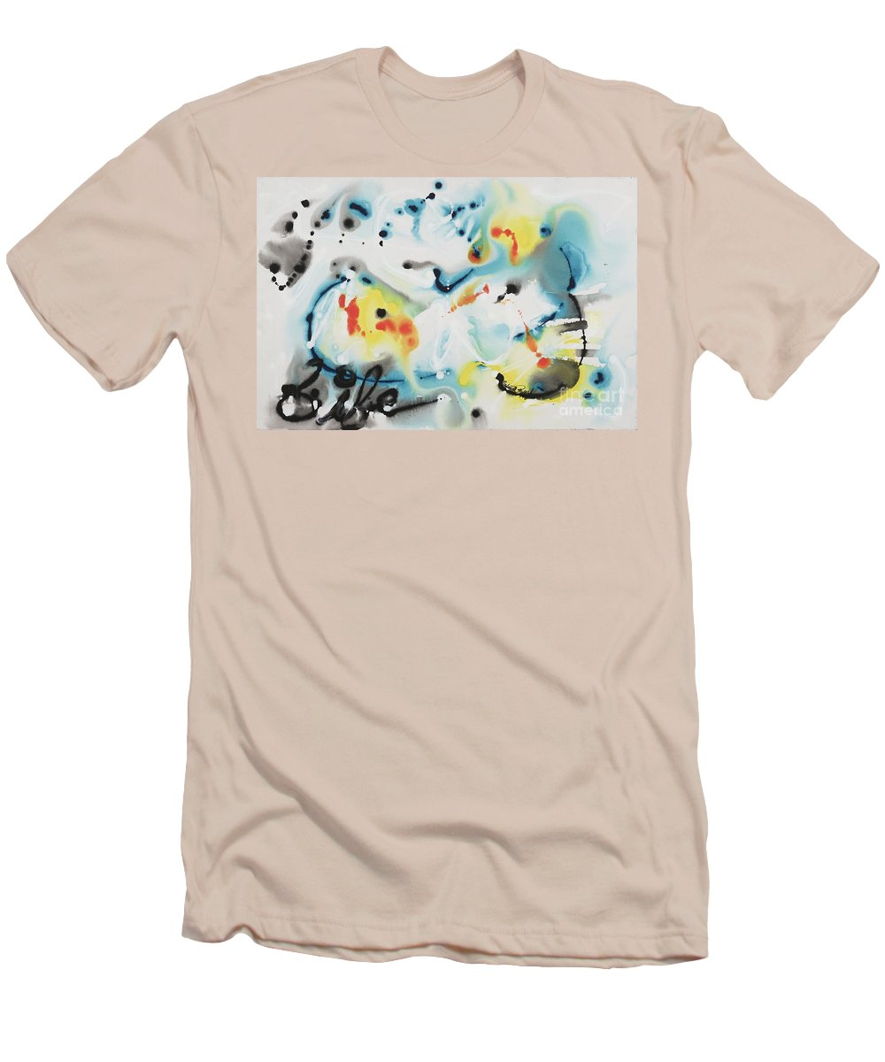 Life Men's T-Shirt (Athletic Fit) featuring the painting Life by Nadine Rippelmeyer