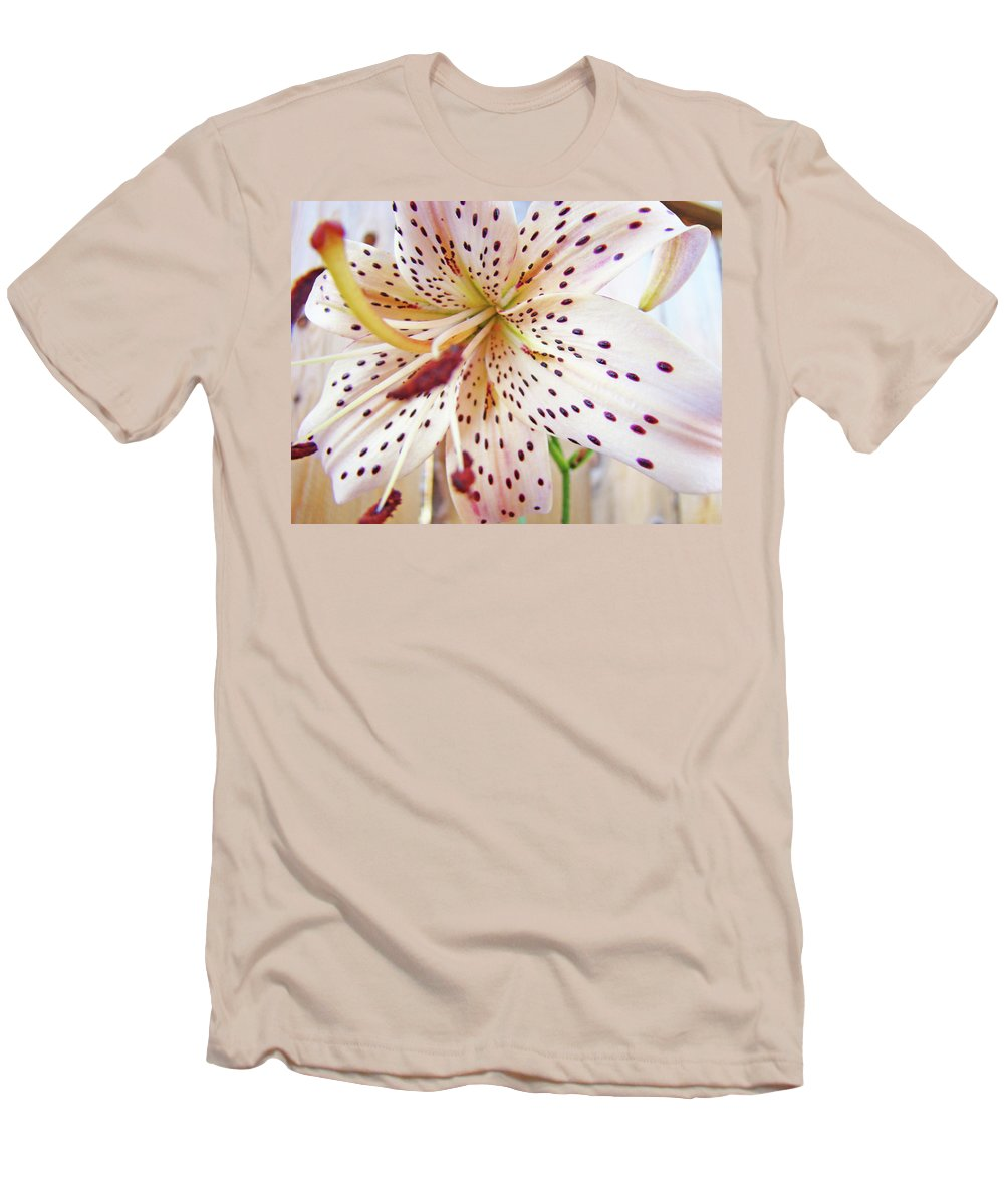 Lilies Men's T-Shirt (Athletic Fit) featuring the photograph Lily Flower White Lilies Art Prints Baslee Troutman by Baslee Troutman