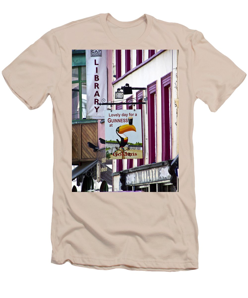 Irish Men's T-Shirt (Athletic Fit) featuring the photograph Lovely Day For A Guinness Macroom Ireland by Teresa Mucha