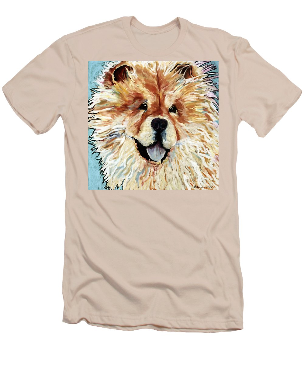 Chow Chow Men's T-Shirt (Athletic Fit) featuring the pastel Madame Chu Cho by Pat Saunders-White