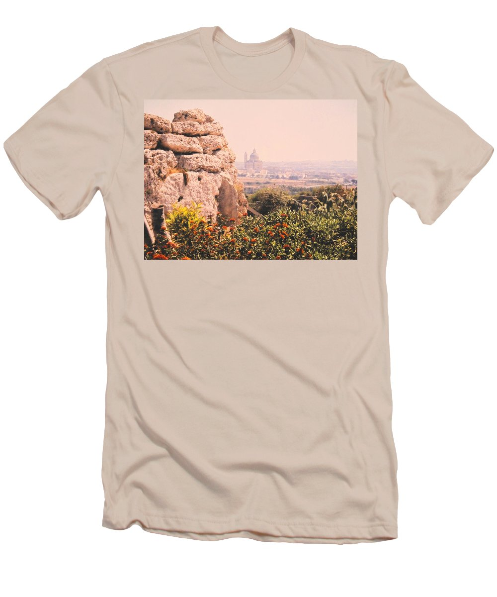 Malta Men's T-Shirt (Athletic Fit) featuring the photograph Malta Wall by Ian MacDonald