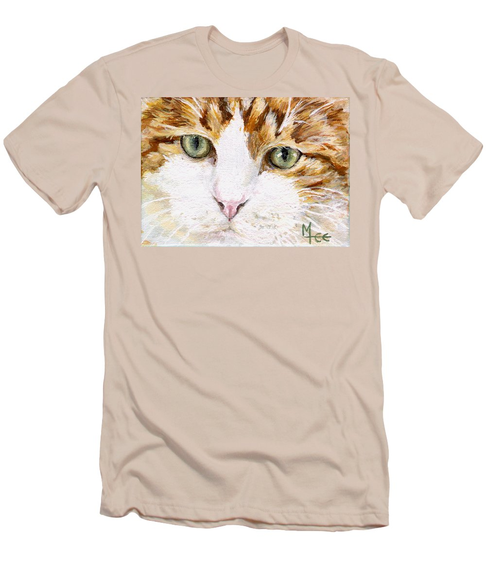 Charity Men's T-Shirt (Athletic Fit) featuring the painting Max by Mary-Lee Sanders