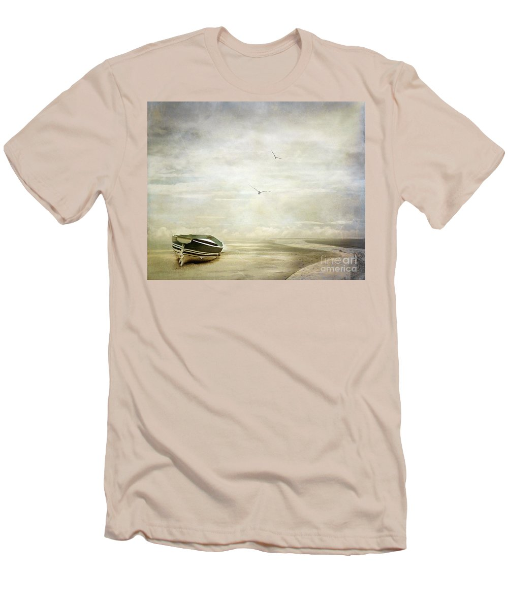 Beach Men's T-Shirt (Athletic Fit) featuring the photograph Memories by Jacky Gerritsen