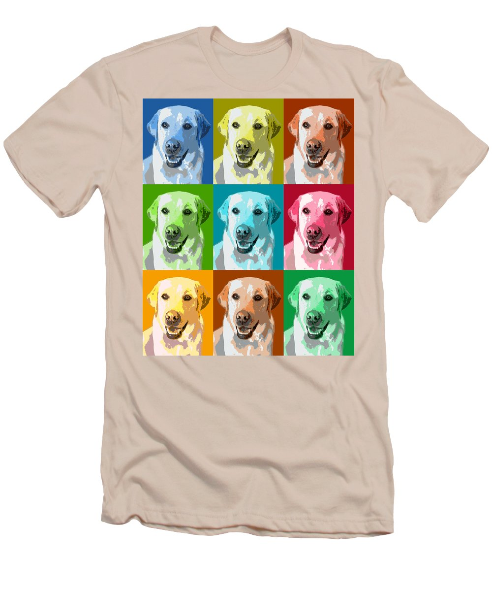 Americana Men's T-Shirt (Athletic Fit) featuring the photograph Golden Retriever Warhol by Marilyn Hunt