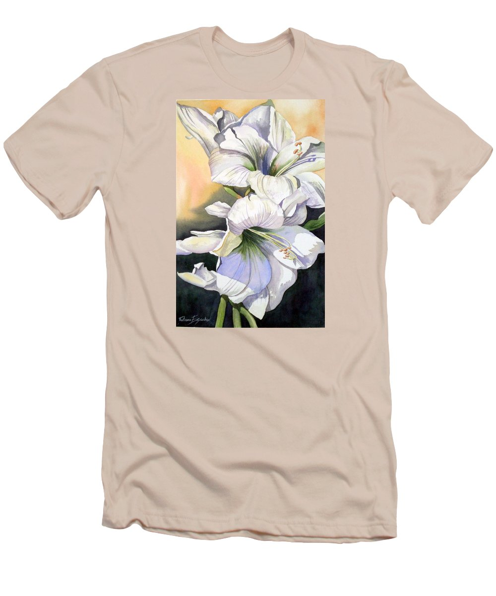 Flower Men's T-Shirt (Athletic Fit) featuring the painting My Love by Tatiana Escobar