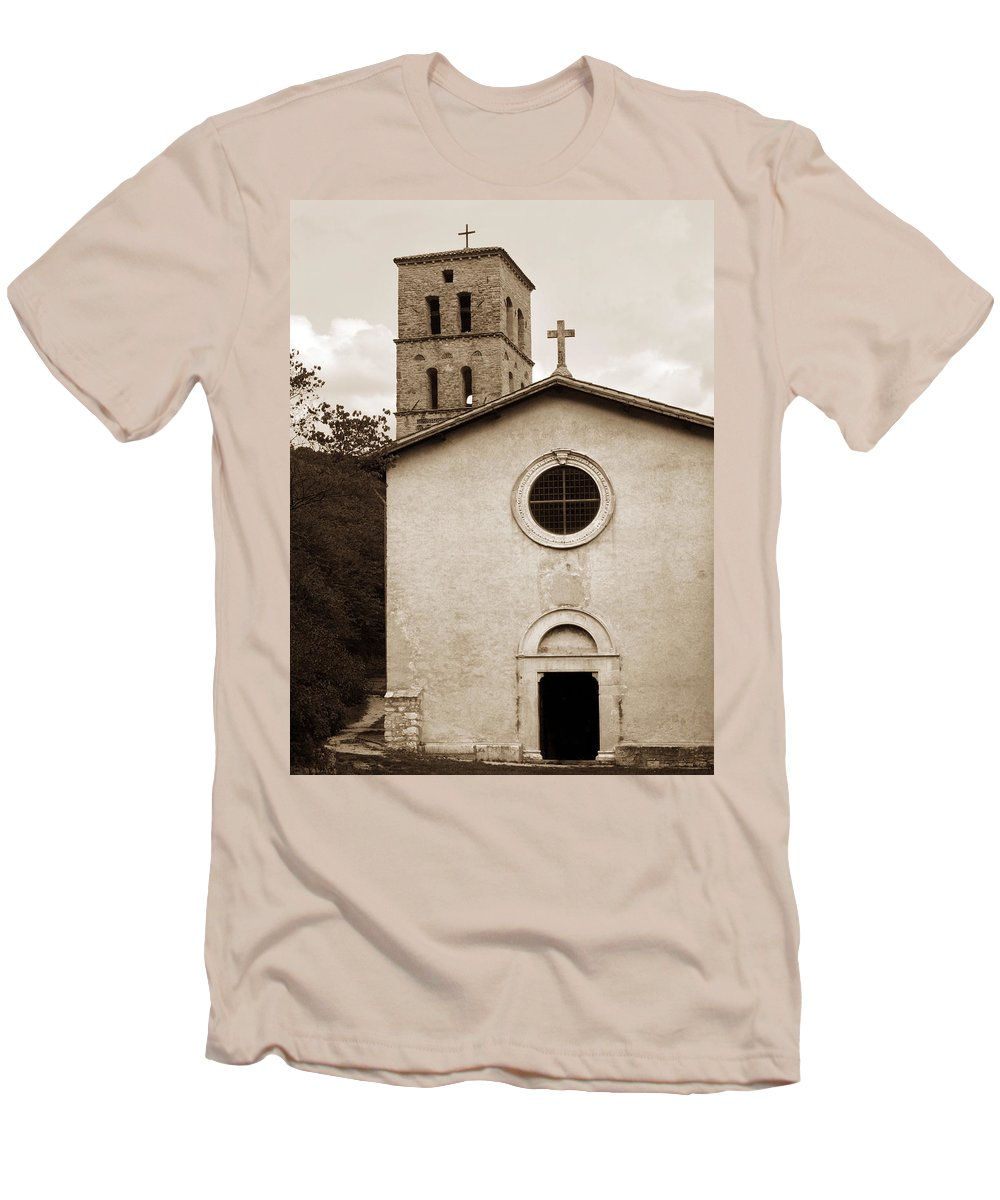 Curch Men's T-Shirt (Athletic Fit) featuring the photograph Nice Old Church For Wedding by Marilyn Hunt