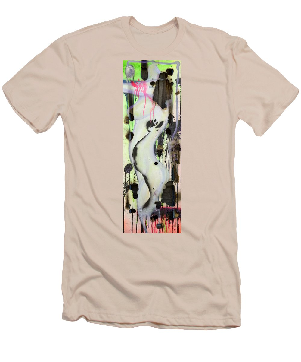 Woman Men's T-Shirt (Athletic Fit) featuring the painting No Winners In Love by Sheridan Furrer