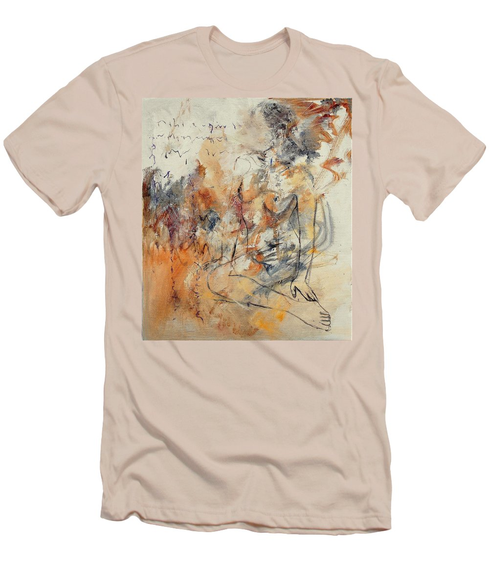 Girl Men's T-Shirt (Athletic Fit) featuring the painting Nude 679070 by Pol Ledent
