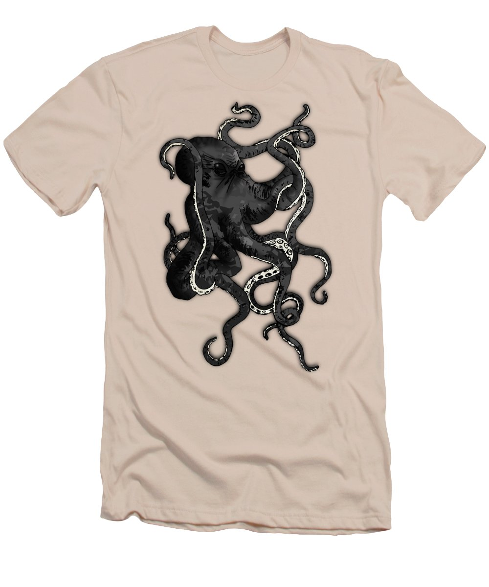 Sea Men's T-Shirt (Athletic Fit) featuring the digital art Octopus by Nicklas Gustafsson
